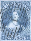 [Queen Victoria 1855 - Auckland Print - Thick Blued Paper, Not Watermarked, type A4]
