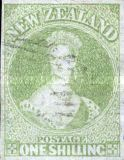 [Queen Victoria 1855 - Auckland Print - Thick Blued Paper, Not Watermarked, type A5]