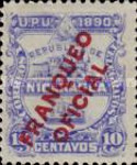 [Postage Stamps of 1890 Overprinted
