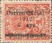 [Postage Stamp of 1911 Overprinted & Surcharged, Typ AD]