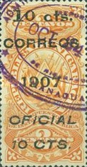 [Revenue Stamps Overprinted & Surcharged, Typ U]