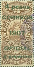 [Revenue Stamps Overprinted & Surcharged, Typ U6]