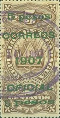 [Revenue Stamps Overprinted & Surcharged, Typ U7]