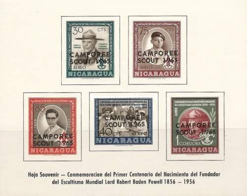 [Airmail - The 9th Central American Scout Camporee - Issues of 1962 Overprinted