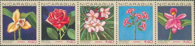 [Airmail - The 5th Anniversary of Central American Economic Integration - National Flowers of Central American Countries, type ]