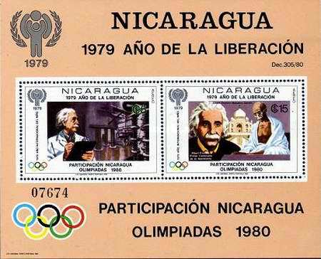 [Airmail - Year of Liberation 1979, International Year of the Child, and Nicaragua's Participation in Olympic Games 1980, type ]
