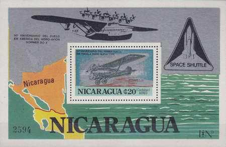 [Airmail - The 50th Anniversary of American Flight of the Do-X Flying Boat, and The 50th Anniversary of the First Direct Flight from Paris to New York, type ]