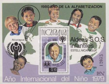 [Airmail - Literacy Campaign, SOS Children's Villages, Unissued Stamps International Year of the Child Overprinted