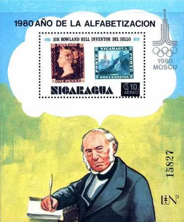 [Airmail - Literacy Campaign, Nicaragua's Participation in Olympic Games 1980, Unissued Stamps The 100th Anniversary of the Death of Rowland Hill, 1795-1879 Overprinted