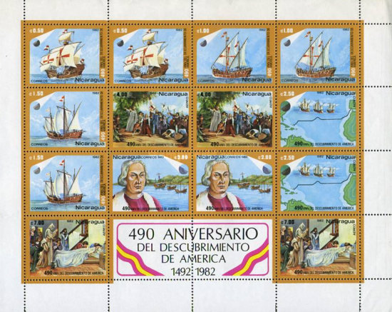 [The 490th Anniversary of Discovery of America, Typ ]