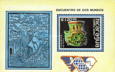 [Airmail - The 500th Anniversary of the Discovery of America - Pre-Columbian Art Objects, Typ ]