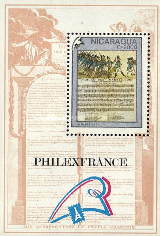 [The 200th Anniversary of French Revolution - International Stamp Exhibition
