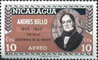 [Airmail - The 100th Anniversary of the Death of Andres Bello, Poet and Writer, 1781-1865, Typ ABW]