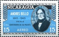 [Airmail - The 100th Anniversary of the Death of Andres Bello, Poet and Writer, 1781-1865, Typ ABW1]