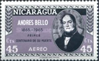 [Airmail - The 100th Anniversary of the Death of Andres Bello, Poet and Writer, 1781-1865, Typ ABW2]