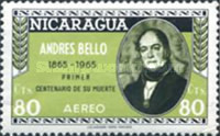 [Airmail - The 100th Anniversary of the Death of Andres Bello, Poet and Writer, 1781-1865, Typ ABW3]