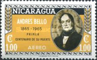 [Airmail - The 100th Anniversary of the Death of Andres Bello, Poet and Writer, 1781-1865, Typ ABW4]