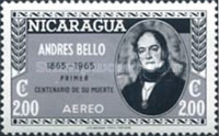 [Airmail - The 100th Anniversary of the Death of Andres Bello, Poet and Writer, 1781-1865, Typ ABW5]