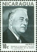 [Airmail - The 25th Anniversary of the Death of American President Franklin D. Roosevelt, 1882-1945, Typ AHN]