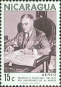[Airmail - The 25th Anniversary of the Death of American President Franklin D. Roosevelt, 1882-1945, Typ AHO]
