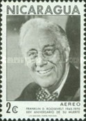 [Airmail - The 25th Anniversary of the Death of American President Franklin D. Roosevelt, 1882-1945, Typ AHU]