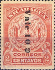 [Coat of Arms Stamps of 1905 Surcharged Downwards, type AJ21]