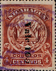 [Coat of Arms Stamps of 1905 Surcharged Downwards, Typ AJ23]