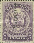 [Coat of Arms Stamps of 1905 Surcharged, type AJ30]