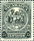 "[Coat of Arms Stamps of 1909-1910 Overprinted & Surcharged - Short Distance Between ""Vale"" and ""2 cts."", type AJ50]"