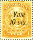 "[Coat of Arms Stamps of 1909-1910 Overprinted & Surcharged - Short Distance Between ""Vale"" and ""2 cts."", type AJ52]"
