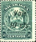"[Coat of Arms Stamps of 1909-1910 Overprinted & Surcharged - Long Distance Between ""Vale"" and ""2 cts."", type AJ56]"
