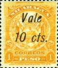 "[Coat of Arms Stamps of 1909-1910 Overprinted & Surcharged - Long Distance Between ""Vale"" and ""2 cts."", type AJ57]"