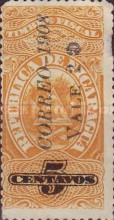 "[Revenue Stamps Overprinted ""CORREO - 1908"" & Surcharged, type AO1]"