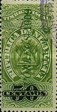 "[Revenue Stamps Overprinted ""CORREOS - 1909"" Upwards & Surcharged, type AS2]"
