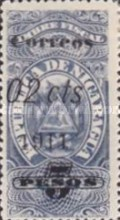 [Revenue Stamps Surcharged in Black, type AW]