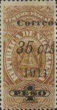 [Revenue Stamps Surcharged in Black, type AW4]