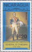 [Airmail - The 200th Anniversary of the Birth of General Bernardo O' Higgins, 1778-1842, Typ AZA]