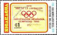 [Year of Liberation 1979 and Nicaragua's Participation in Olympic Games 1980 - The 100th Anniversary of the Death of Sir Rowland Hill, 1795-1879, type AZI2]