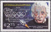 [Year of Liberation 1979 and Nicaragua's Participation in Olympic Games 1980 - The 100th Anniversary of the Birth of Albert Einstein, 1879-1955, type AZJ6]
