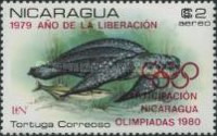 [Airmail - Year of Liberation 1979 and Nicaragua's Participation in Olympic Games 1980 - Protected Sea Turtles, type AZL]
