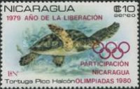 [Airmail - Year of Liberation 1979 and Nicaragua's Participation in Olympic Games 1980 - Protected Sea Turtles, type AZN]