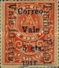 [Railroad Coupon Tax Overprinted