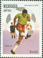 [Airmail - Football World Cup - Spain, Typ BDW]