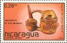 [Airmail - The 500th Anniversary of the Discovery of America - Pre-Columbian Art Objects, Typ CBU]