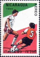 [Airmail - Football World Cup - Italy, Typ CCH]