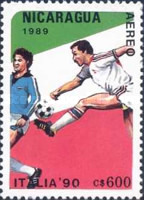 [Airmail - Football World Cup - Italy, Typ CCJ]