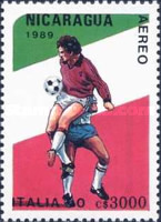 [Airmail - Football World Cup - Italy, Typ CCM]