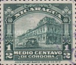 [Government Building in Managua and León Cathedral Stamps of 1914 in New Colors, Typ CF1]