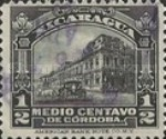 [Government Building in Managua and León Cathedral Stamps of 1914 & 1922 in New Colours, Typ CF13]