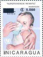 [Airmail - Stamps of 1987 Surcharged, type CFT]